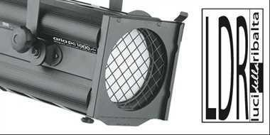 Halogen spotlights - LDR Aria F 1000 Plus black