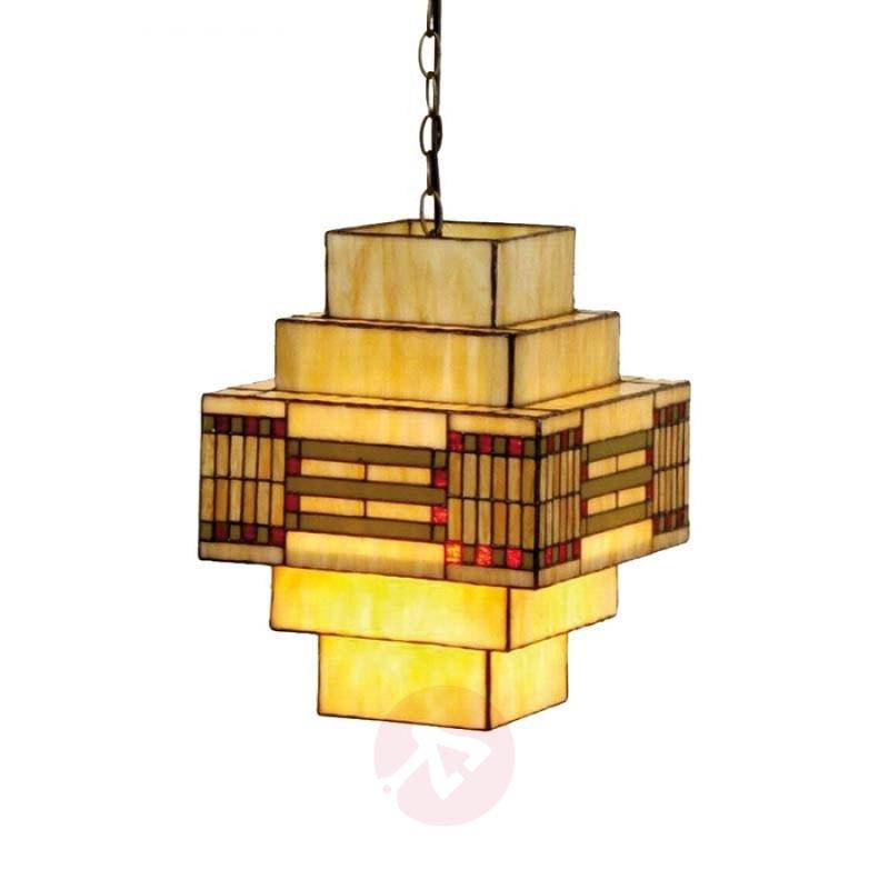 Striking hanging lamp Stakkato in theTiffany style - design-hotel-lighting