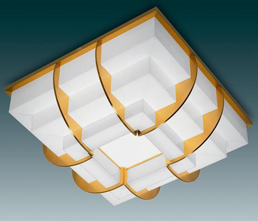Glass art deco ceiling light - Model 364