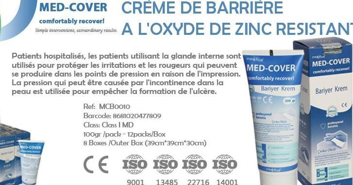 MED-COVER BARRIERE CREME A L'OXYDE DE ZINC RESISTANT