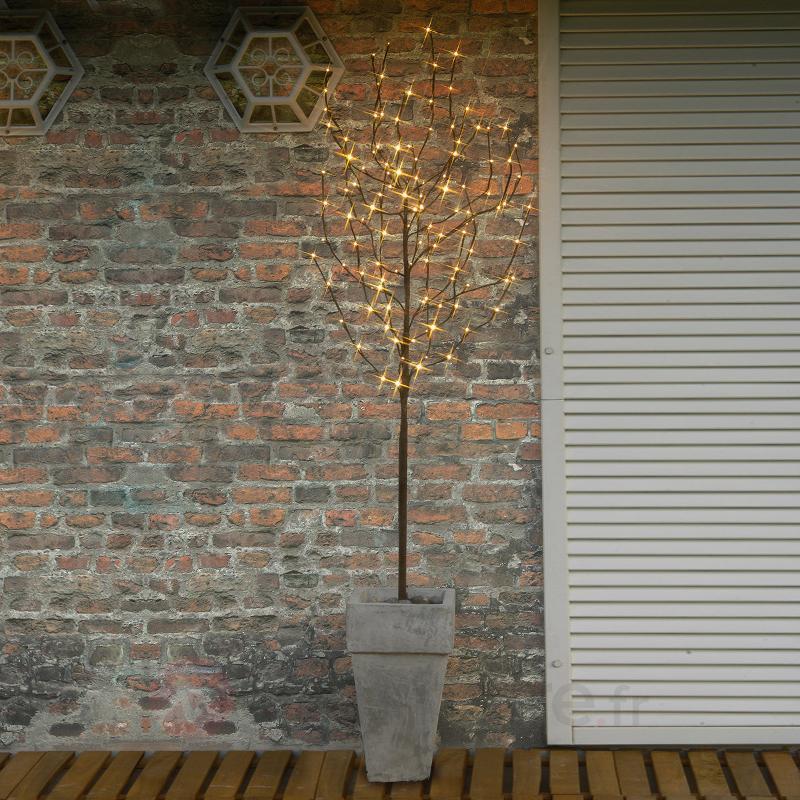 Arbre LED marron Tobby Tree - Décorations de Noël LED d'extérieur