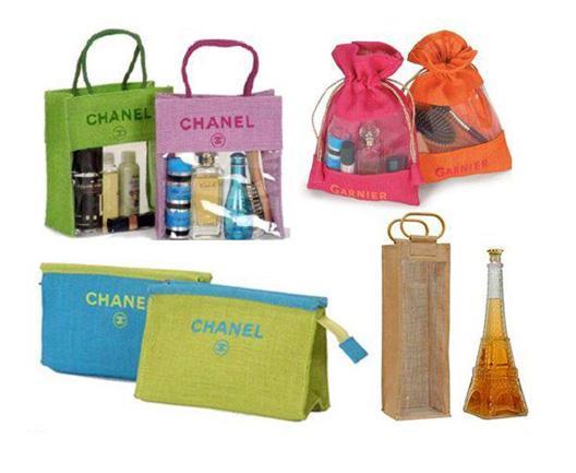 Sacs cosmétiques - Sacs cosmétiques en jute Sacs cosmétiques en coton