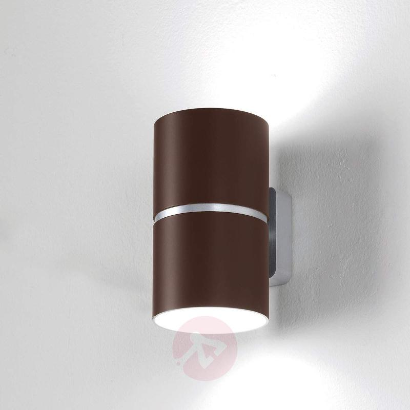 LED wall light Kone, chocolate, 35 W - Wall Lights