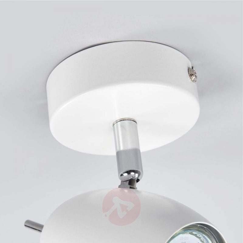 White spotlight Philippa with GU10 LED - indoor-lighting