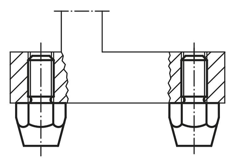 Pied fileté DIN 6320 (Version 1971) - Appuis et pieds de position