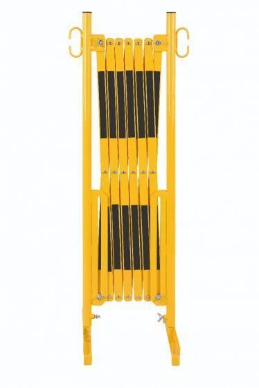 Barrière Extensible Jaune-noir 3,6m Avec Pied - Barrières De Sécurité