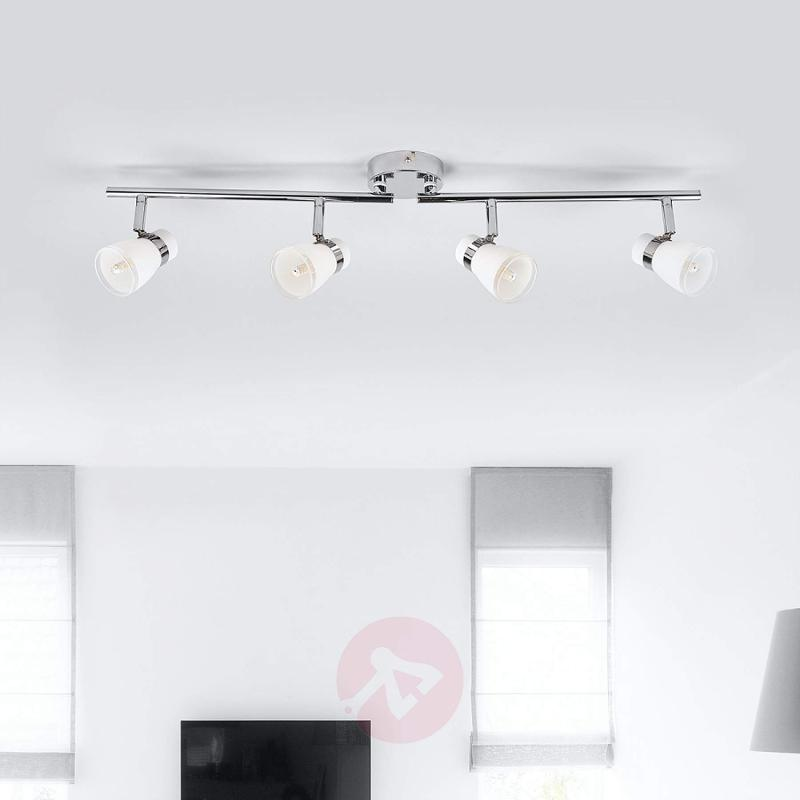 4-bulb Nicaro ceiling light with glass lampshades - indoor-lighting