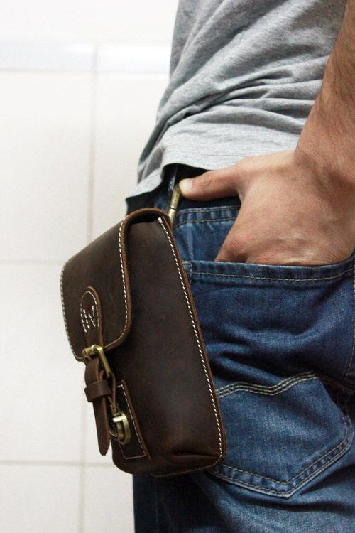 Dirk Leather Waist Bag - Gents Waist bag