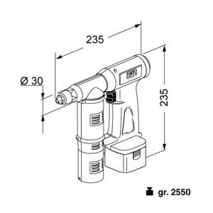 EB 311 - Rivettatrice a batteria per rivetti a strappo - Rivettatrici per rivetti