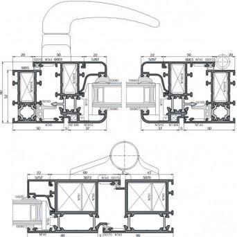 Ponzio PT 52 - Aluminiumfenster