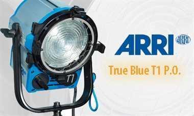 Halogen spotlights - ARRI True Blue T1 P.O. blue/silver bare ends