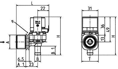 Electrovanne servo-commandée NF, DN 7 - 01.007.115