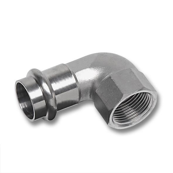 NiroSan® Winkel 90°, mit Pressanschluss und Innengewinde - Edelstahlfittings, NiroSan® Winkel 90°, mit Pressanschluss und Innengewinde