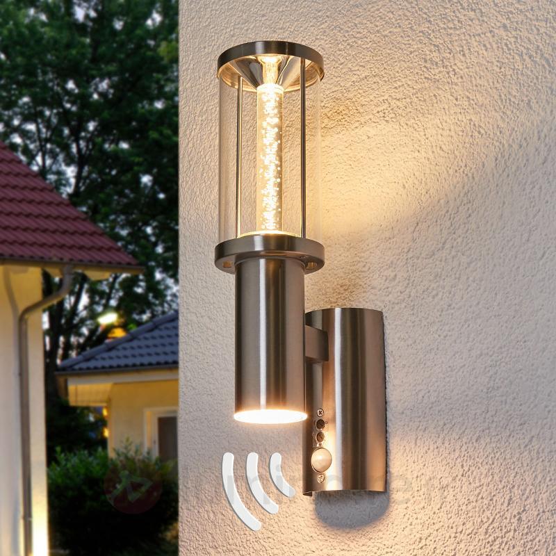 Applique extérieure LED Trono tube av. détecteur - Appliques d'extérieur avec détecteur