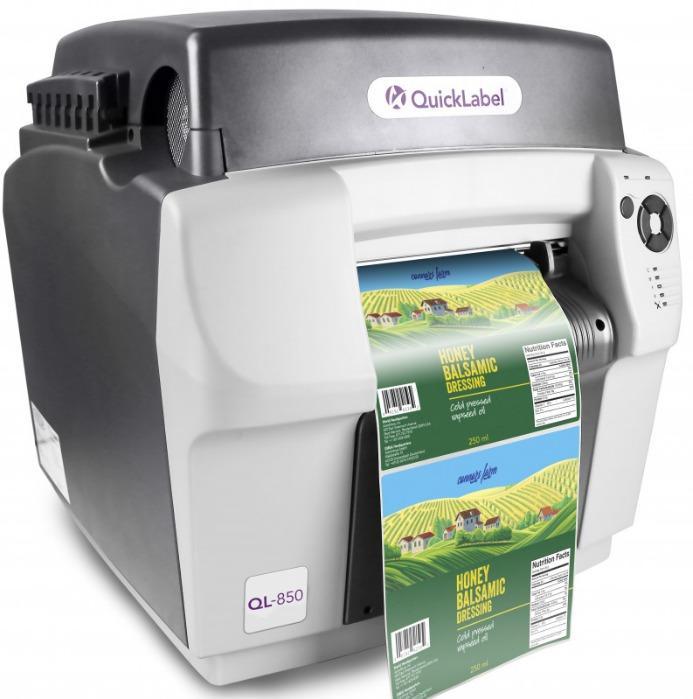 QL-850 Wide Format Color Labelprinter, Inkjet - QL-850: CMYK Inkjet Labelprinter for Wide Format Labels up to 210 mm width