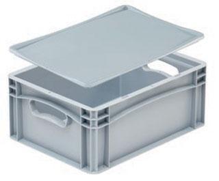 Kunststoffbehälter - DE-BASIC mit Auflagedeckel