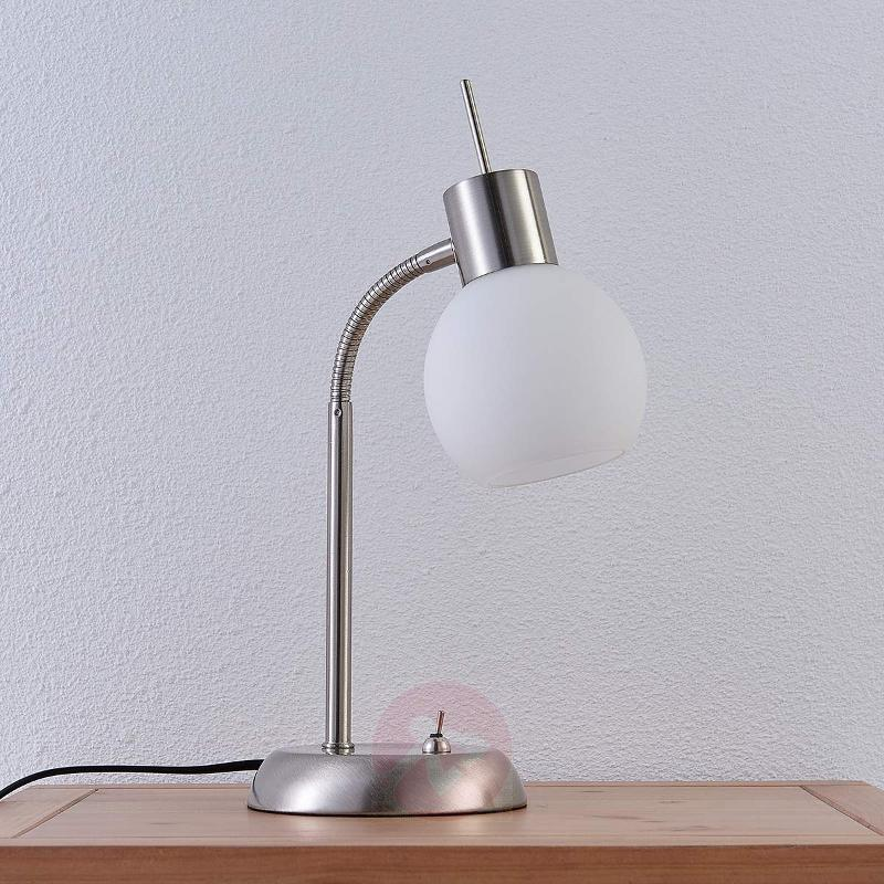 LED table lamp Manon with opal white glass shades - Table Lamps