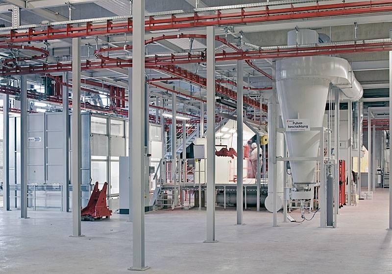 Cyclone separator - powder-coating