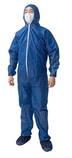 Sobretodo no tejido PP - Material: PP no tejido Color: azul oscuro / blanco Peso: 35gsm-55gsm Tamaño está