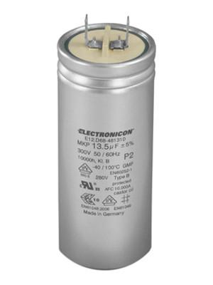E12/E33 Class P2 capacitor - AC Capacitors in aluminium can with overpressure protection