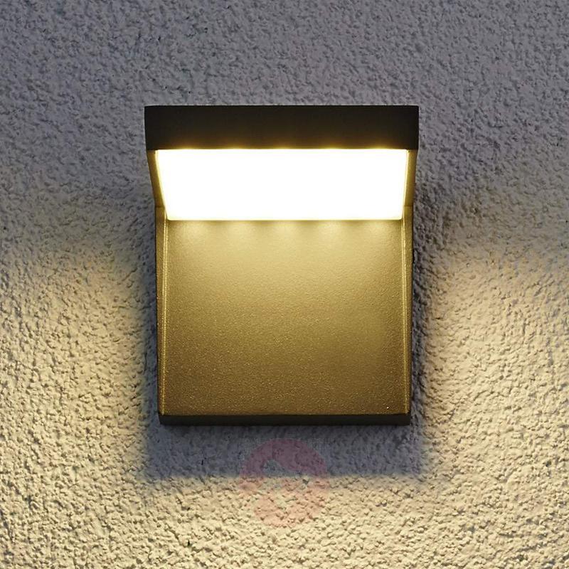 Modern Rachel LED outdoor wall light aluminium - Outdoor Wall Lights