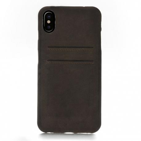 iPhone X Ultra Cover CC - Leather mobile phone back cover case with credit card slots for iphone x