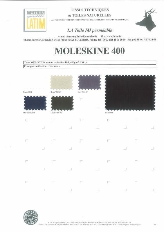 MOLESKINE 400 - Toiles naturelles