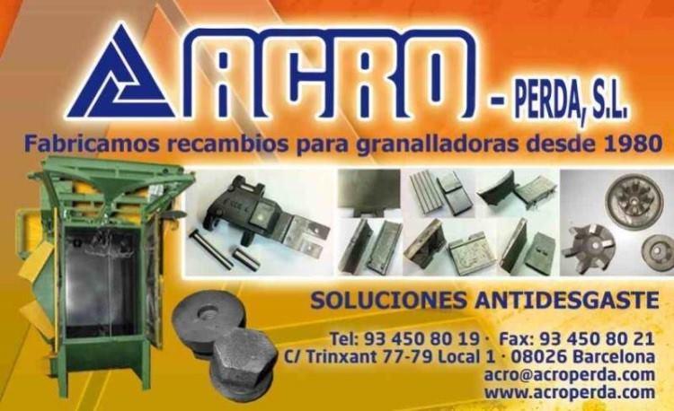 RECAMBIOS / REPUESTOS DE GRANALLADORAS - fabricación de recambios para todo tipo de granalladoras existentes
