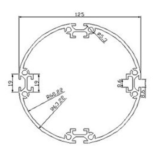 Profilés ROND - RD-125