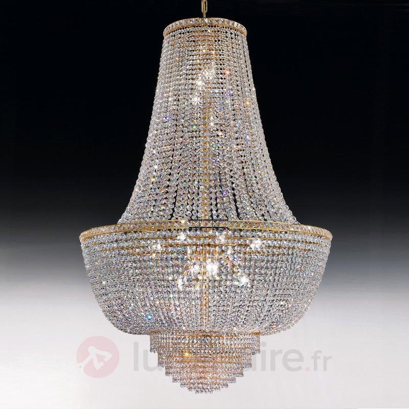 Lustre SETTAT à cristaux et or de 24 carats 60 cm - Lustres en cristal