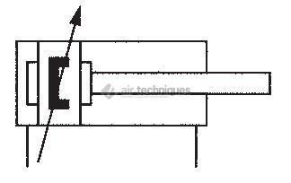 Vérin pneumatique double effet - Vérins cylindriques - amortissement réglable, diamètre 50 mm - HMP-50