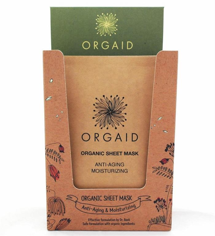 ORGAID  - Display with 12 pcs. Anti-Aging & Moisturizing Organic Sheet Mask
