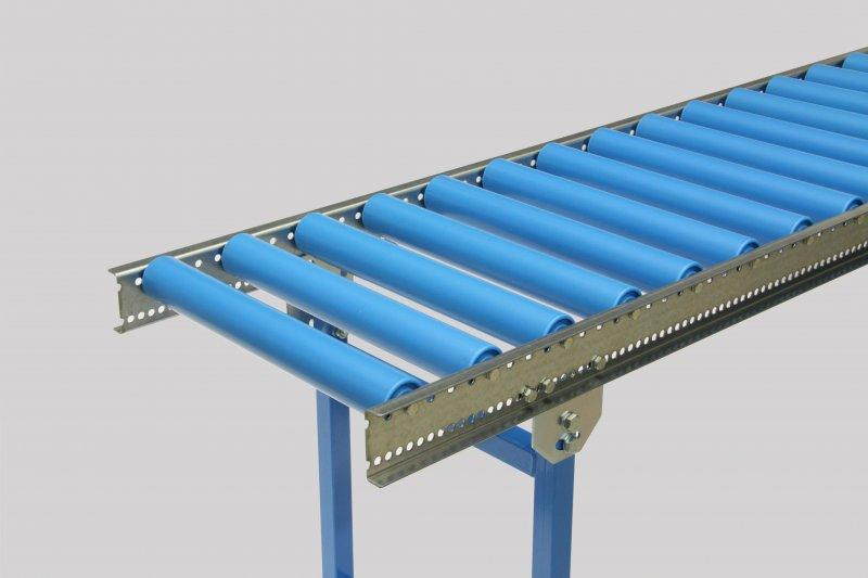 Light roller conveyor with plastic support rollers Ø 50 mm