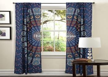 Mandala Curtain Door Curtain U0026 Valances Curtain Blinds   Curtain Sheer  Hippie Tapestries Window Cover Home ...
