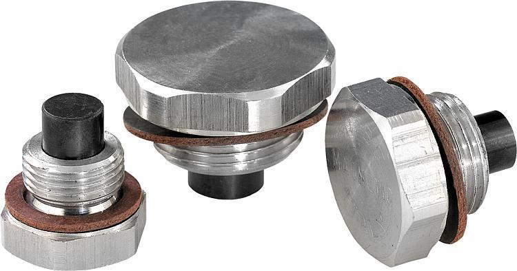 Bouchon fileté, aluminium avec insert magnetique - Indicateurs de niveau d'huile Obturateurs Bouchons filetés Bouchons à...