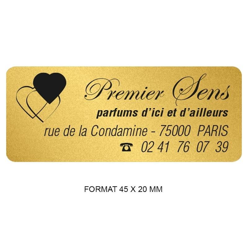 Étiquettes noir & or - Etiquette autocollante pour boutique