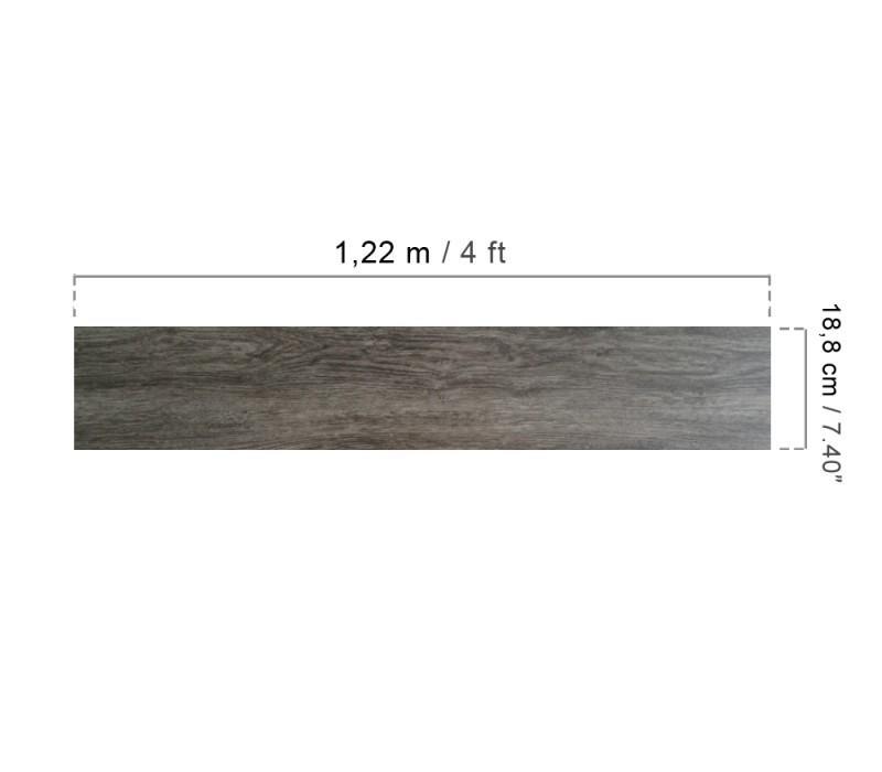 Lames PVC clipsables grand trafic - Imitation parquet bois brun/gris (= 2.42 m²)