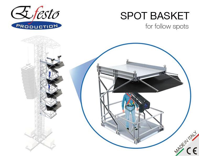 SPOT BASKET for follow spots