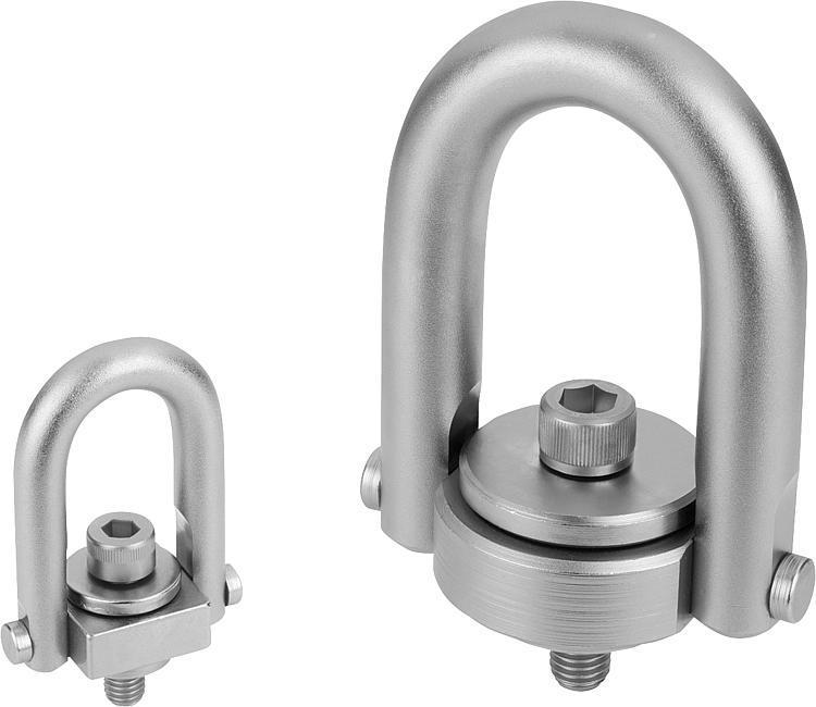 Anneau de levage avec revêtement Envirolox® - Anneaux de levage fixes et pivotants, anneaux à broche autobloquante