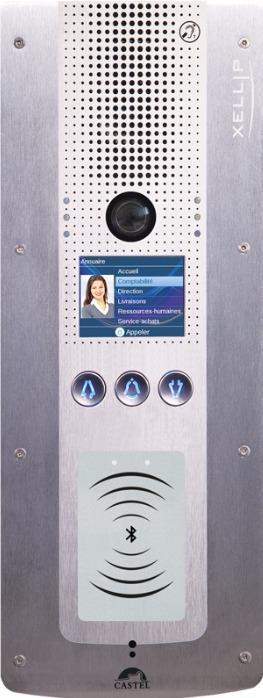 XE PAD VIDEO BLE - Interphonie IP - Portier audio vidéo Full IP/SIP à défilement de noms conforme loi Handicap avec