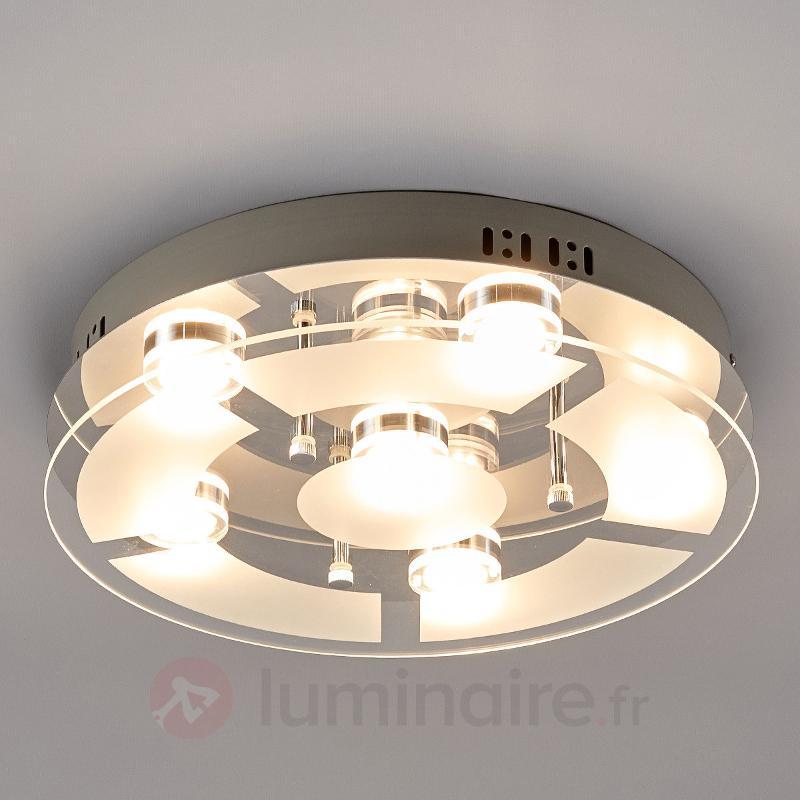 Plafonnier LED Karlina partiellement satiné - Plafonniers LED