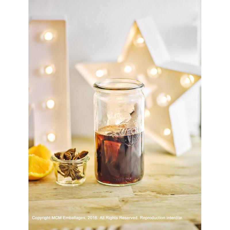 6 glass jars WECK TUBE® 340ml  - Weck jars TUBE®