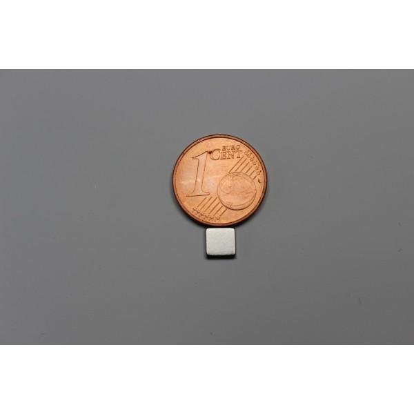 Block magnet, Neodymium, 5x5x1mm, N42, Ni-Cu-Ni,... - null