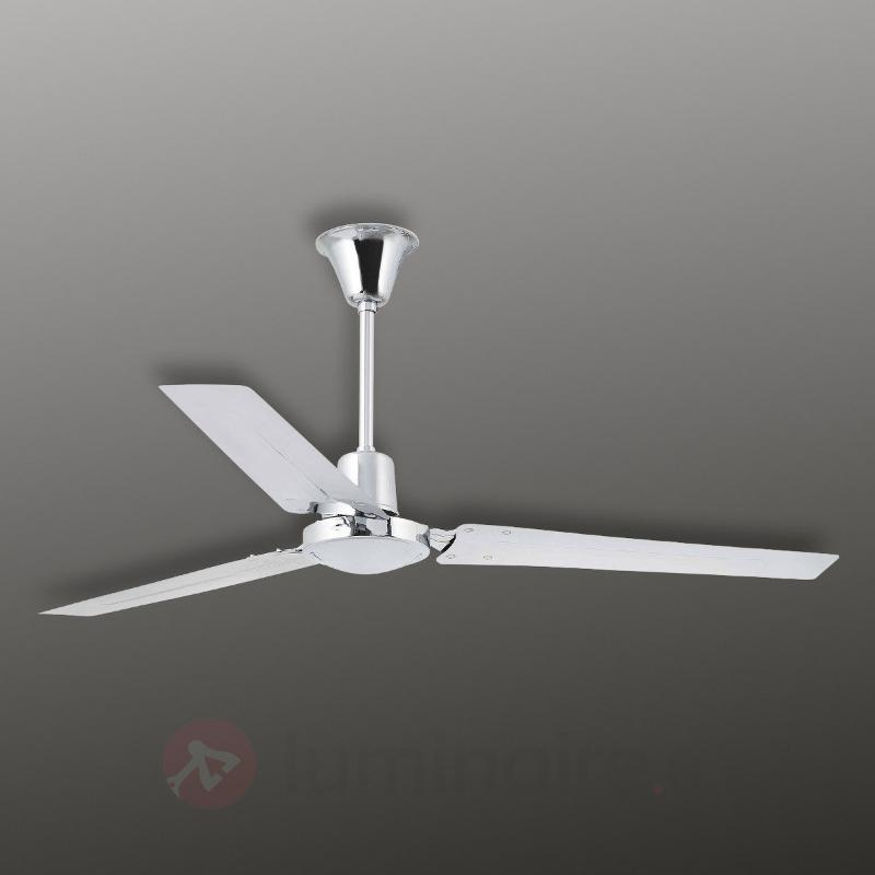 Ventilateur super moderne INDUS, chromé - Ventilateurs de plafond modernes