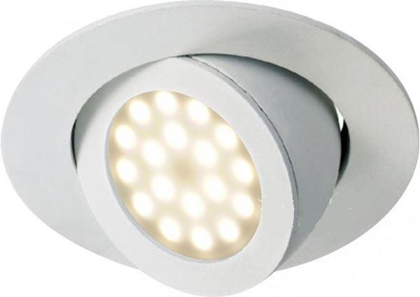 """SPOT ENCASTRE LED """"FLAMENKO"""" BLANC FIXE - Intérieur standard"""