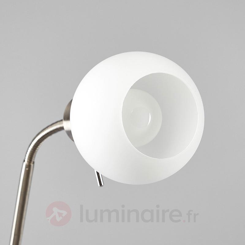 Lampadaire LED Elaina à 2 lampes, nickel mat - Lampadaires LED