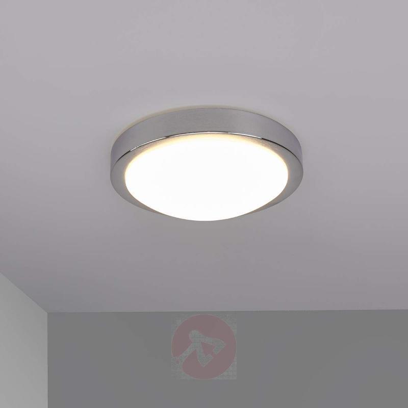 Aras LED ceiling light for bathrooms, aluminium - Ceiling Lights