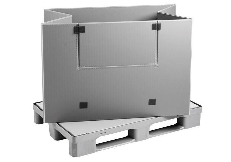 Mega Pack 1200 Hybox - Faltbarer Großbehälter: Mega Pack 1200 Hybox,  1200 x 800 x 940 mm