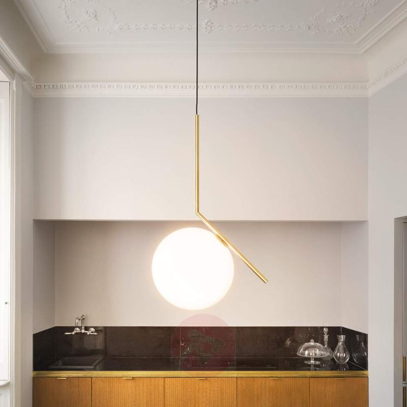 IC S2 - Designer Pendant Lamp by FLOS, Brass - Pendant Lighting