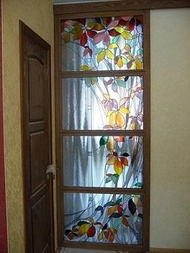 двери раздвижные - двери раздвижные с витражами